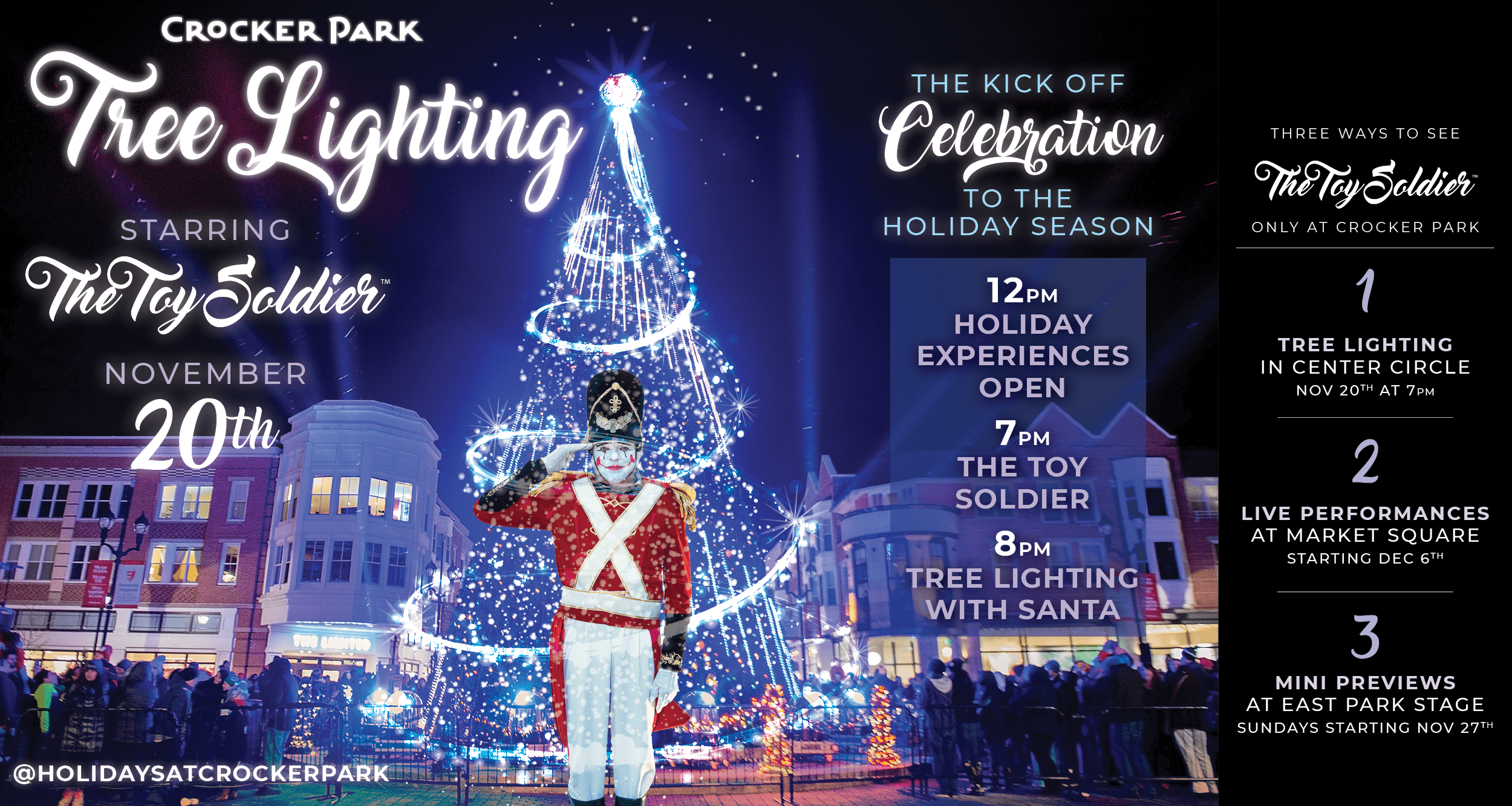 Tree Lighting Starring The Toy Soldier